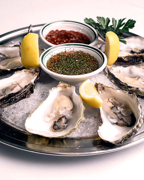 Oyster Platter, Appetizer for Valentine's Date